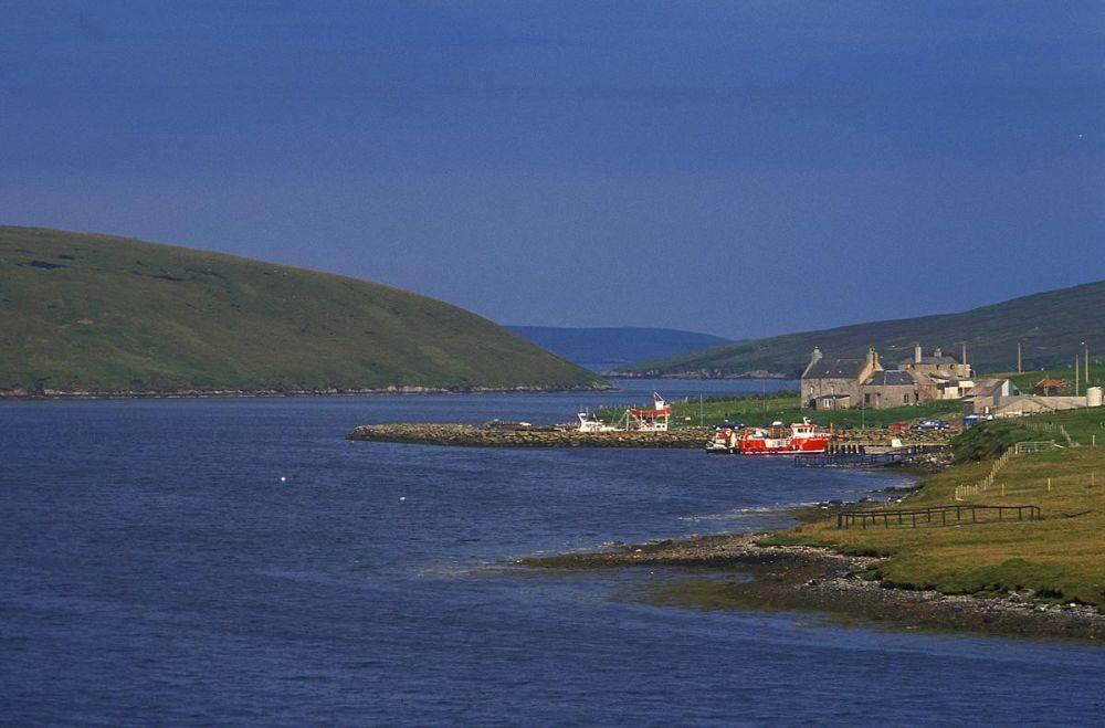 Paysage port îles Shetland Ecosse
