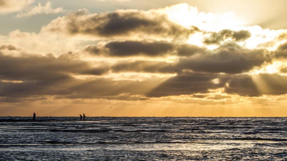 Coucher de soleil île Texel Pays-Bas