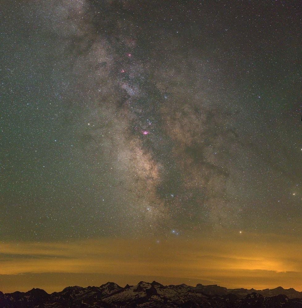 Cœur de voie lactée et constellation du Sagittaire ©Patrick Lecureuil